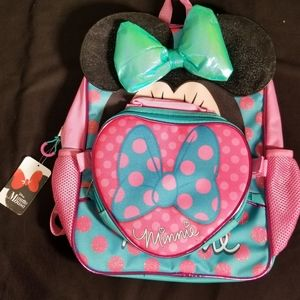 "New Disney Minnie Mouse 16"" Girls Backpack"